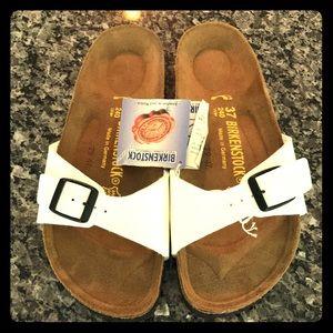 Birkenstock NWT Madrid sandal in white patent!
